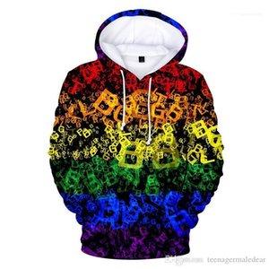 Мужская одежда ЛГБТ печатный дизайнер Мужские толстовки с длинным рукавом с капюшоном пары кофты мода свободные