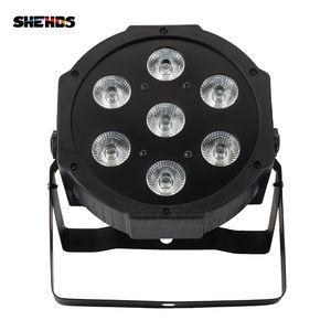 SHEHDS LED 7x18W RGBWA + UV Par Light с DMX512 IN / OUT и IN OUT питания 6in1 ступень световым эффектом для мытья Эффект DJ диско