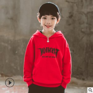 Children's Hoody Boys T-shirt 2019 New Spring and Autumn Kids Long Sleeve Fashion Leisure Hoodies 2 Letter Colors Size4-14 ly264