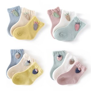 3 Pairs Infant Baby Socks Spring Autumn Winter Warm Kids Socks Girls Cotton Newborn Boy Toddler Baby Clothes Accessories