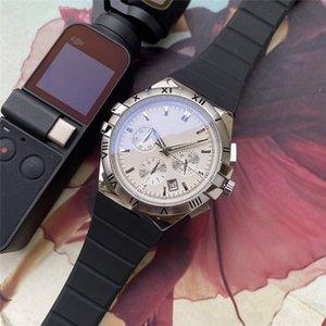 OMG Todos los diales de relojes de lujo cronómetro reloj de los hombres que trabajan con el calendario de sílice superior de la marca del reloj del cuarzo de calidad mejor regalo de los hombres de alta