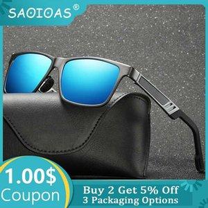 SAOIOAS 2020 Men's Sunglasses Aluminum Magnesium Luxury Polarized Driving Mirror Eyewear For Men Women UV400 Oculos luxury