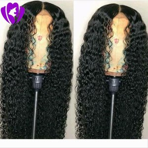 Celebrity style 180% Density kinky curly Synthetic Lace Front Wig Heat Resistant Fiber Long Loose Curly Wigs For black Women