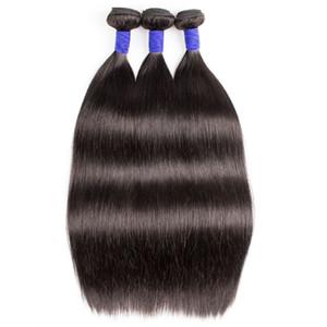 10A Brezilyalı Virgin Düz İnsan Saç Paketler Doğal Renk Hint Saç demetleri 3 VEYA 4 Paketler 10-28 inç Remy İnsan Saç Uzantıları