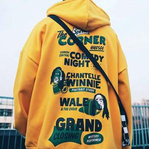 Spring and summer street fashion couple hip hop loose Large Plush Hoodie Luxury Mens Designer hoodie coat