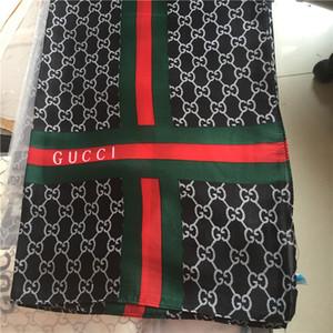 새로운 패션 실크 스카프 패션 여성 스카프 부드러운 얇은 실크 인쇄 목도리 브랜드 실크 스카프 190 * 80cm 손수건