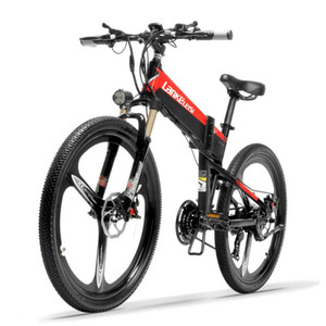 Electric Bicycle XT600 21 Speed Mountain Bike 26'' Folding 400W 10.4Ah 12.8Ah Li-ion Battery Suspension Fork 5 Level Pedal Assist