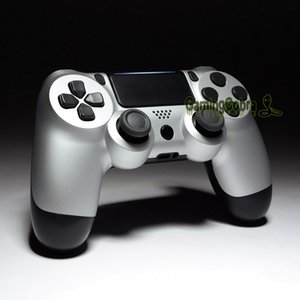 Soft Touch Grip Silver Front Housing Shell Faceplate for PS4 Slim   for PS4 Pro Controller (JDM-040 JDM-050 JDM-055) - SP4FX08