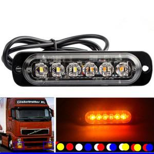 4pcs 12-24V Truck Car 6 Flash LED Strobe emergenza luce d'avvertimento Flashing Lights
