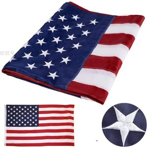 Flag of the United States150CM*90CM 3X5FT oxford cloth Embroidery Custom Any Banner American Stars and Stripes Flag flying home & outdoor