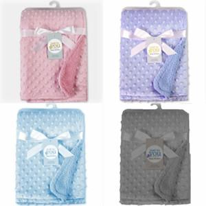 Neues Fest 102x 76cm weiche Fleece Rosebud Personalisierte Luxusdecke Jungen-Mädchen-neue Baby-Geburts-Geschenk