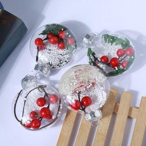 8cm 10cm Christmas Decorations Ellipse balls transparent hanging christmas ball baubles clear plastic christmas Bauble ornaments Gift