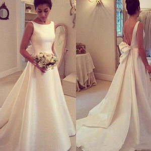 2020 Handmade Long Простой Bohemian Lace Boho Свадебные платья с плеча Дешевые Пляж Свадебные платья Sweep Поезд Свадебные платья Vestidos