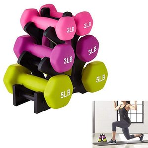 Gym Dumbbell Rack Stands Weightlifting Holder Dumbbell Weight Lifting Floor Bracket Home Exercise Accessories
