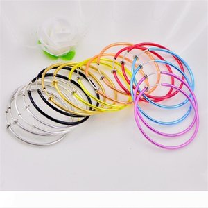 New 5MM Big Size Hoop Earrings For Women Colorful NO Hole Round Circle Earring Fashion Non-pierced Earring