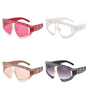 Жемчужные заклепки женские солнцезащитные очки поляризованный свет пластиковые солнцезащитные очки Грейс большой фоторамка очки Бардиан мода мульти цвета 23ph D1