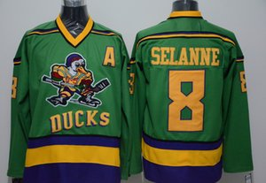 Mighty Ducks Jersey 66 Gordon Bombay 96 Charlie Conway 99 Adam Banks Hockey Jersey The Mighty Ducks Of Anaheim Men Movie Jersey Green
