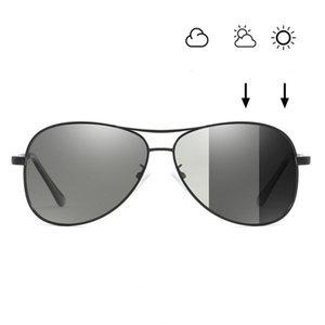 2019 Nuovo PhotoChromic Sun Metal Frame Moda polarizzata per il design pilota Driving Occhiali da sole Goggles Unisex Occhiali da sole 4 Glasses Colors locs
