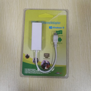 50pcs Micro USB 2.0 / USB 2.0 to RJ45 LAN Network Ethernet Adapter 100Mbps for Android Tablet PC Laptop