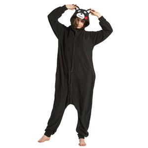 2019 животных унисекс взрослый бурый медведь пижамы мультфильм фланель кумамон кигуруми Onesies косплей костюмы комбинезоны лучший подарок