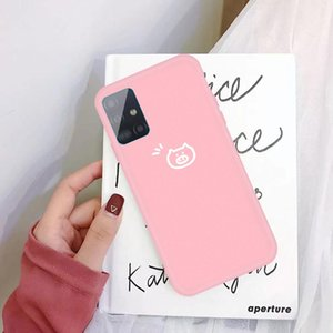 For Galaxy A71 Little Pig Pattern Frosted TPU Protective Case