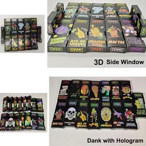 Cartuchos de pluma más nuevos DANK VAPE carros bolsa 3D holográfica Dank Vapes lado abierto la caja de regalo de empaquetado exótico carros de Mario con holograma Embalaje