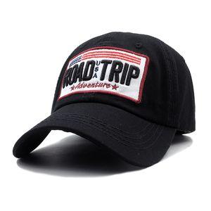 Fashion USA Flag ROAD TRIP embroidery Baseball Cap For Men Women Snapback Hat American Flag Bone Trucker High Quality Gorras