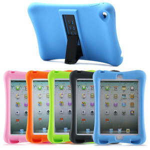 New Arrival Case For Apple iPad mini 1 2 3 Soft Silicon Rubber Kids Shockproof Tablet Stand Cover For iPad mini123 case WA36
