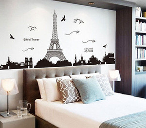 Art Decalque removível Paris Torre Eiffel adesivos de parede Mural prevalecer Home Decor Paris Grande Sightseeing adesivo parede