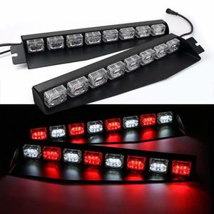 48LED 48W LED Lightbar pare-lumière Pare-brise d'urgence Avertissement de danger Strobe Beacon de Split Mont Pont Dash Lampe (Rouge / Blanc / Rouge / W