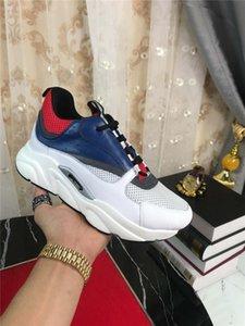 2019DR HOMME B22 rosa / blu Sneaker tecnica Knit vitello Trainer Sneakers con la scatola originale