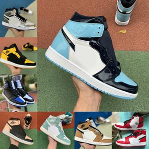 Горячая продажа 2020 Новый 1 High OG Чикаго Баскетбол обувь Дешевые Retroes Бред Зеленый UNC Синий Белый Toe Мужчины Женщины 1S Turbo Зеленый V2 Presto обувь
