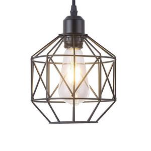 JML Pendant Light Retro Style Vintage Loft Design Black Basket Cage Hanging Ceiling Lamp Industrial Lighting Fixture for Living Room Bedroom