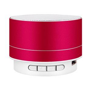 LED 미니 블루투스 스피커 A10 TF USB FM 무선 휴대용 음악 사운드 박스 서브 우퍼 라우드 스피커 전화 PC