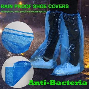 65 Pairs Disposable Shoe Cover High Protective Anti-Saliva Plastic Thick Outdoor Waterproof Carpet Cleaning Shoe Cover