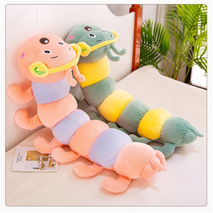 Factory Direct New Headset Caterpillar Plüsch-Spielzeug Bunte Caterpillar Puppe Large Size Schlafkissen Mädchen ZZC-209