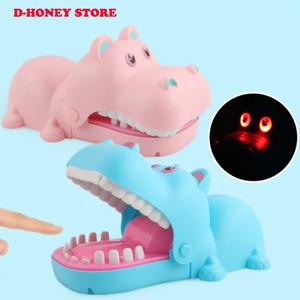 Bebek oyuncakları Büyük hippo Şakalar Ağız Diş Hekimi Bite Parmak Oyunu Şaka Eğlenceli Komik flaş Oyuncak Antistres Hediye Çocuklar Aile Prank