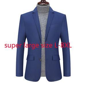 New Fashion High Quality Autumn Winter Coat Men Casual Single Breasted Suit Blazer Men Plus Size L XL 2XL 3XL 4XL 5XL 6XL 7XL8XL