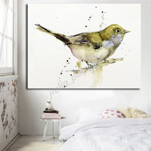 Little Whistler Bird Watercolor Nordic Minimalist Canvas Posters Prints Wall Art Painting Decorative Picture Modern Home Decor