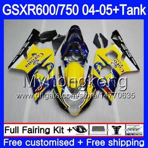 Vücut + Tank İçin SUZUKI GSXR 750 GSX R750 K4 GSXR 600 GSXR600 Mavi SICAK 04 05 295HM.14 gsxr750 GSXR600 04 05 gsxr750 2004 2005 Kalafatlama