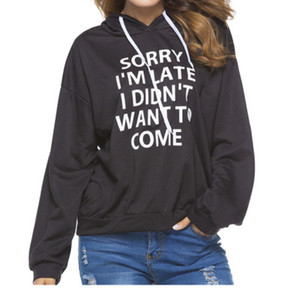 브랜드 뉴 가을 후드 긴팔 영어 프린트 스웨터 힙합 후드 여성 루즈가 얇은 풀 오버