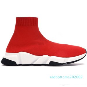 2020 nuovo progettista scarpe da tennis Velocità Runner Moda Scarpe calzino Triple Nero stivali rossi piatto Trainer Uomo Donna Casual Scarpe AG28