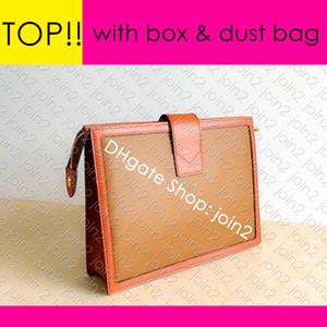 M69184 POCHETTE DAUPHINE Designer Womens Canvas Pouch Tages Clutch Abendtasche mit Reißverschluss Mini Pochette Accessoires Kultur Stadt Pouch 26 19 15