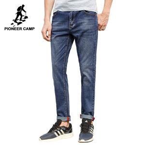 Erkekler için Pioneer Camp Erkek kot marka giyim yüksek kaliteli İnce erkek Günlük Pantolon Pamuk Denim pantolon