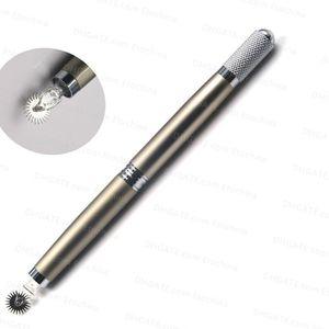3D Manual Permanent Makeup Eyebrow Tattoo Pen Professional Manual Tebori Microblading Pen Three Head Manual Pen for Roller Pin Needles
