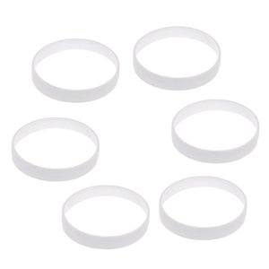 6 Stück weißen Kunststoff-Golf Putting-Green Cup Ring Golf Feldausrüstung 11cm