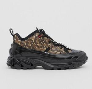 Роскошные дизайнерские мужчины обувь 19FW Артур TB печататься мужские и женские кроссовки на платформе Canvas замша та же звезда обувь 38-46 L7