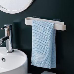 ABS mural Porte-serviettes gratuit Punching serviettes de bain Bar Shelf rouleau de papier toilette suspendu Hanger salle de bains offre