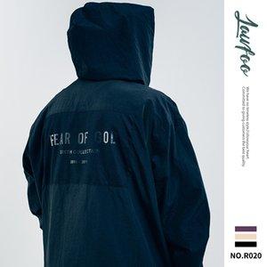 Lawfoo 2019 de invierno nuevos hombres del estilo desgaste y otoño populares Marca Niebla sexta impresión trasera impermeable chaqueta de los hombres de la chaqueta rompevientos
