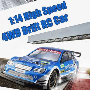 Высокоскоростной Драйв Дрифт RC 4WD Drift Racing Car Чемпионат Автомобилей Пульт Дистанционного Управления Автомобиль USB Зарядка Мини-Автомобили Модель Игрушка в Подарок